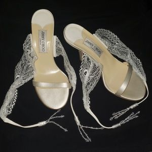 Jimmy Choo sandals perfect for a wedding